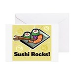 Sushi Rocks Greeting Cards (Pk of 10)