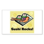 Sushi Rocks Rectangle Sticker