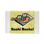 Sushi Rocks Rectangle Magnet