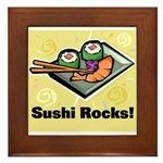 Sushi Rocks Framed Tile