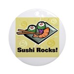 Sushi Rocks Ornament (Round)