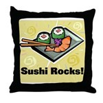 Sushi Rocks Throw Pillow