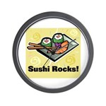 Sushi Rocks Wall Clock