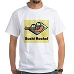 Sushi Rocks White T-Shirt