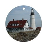 Portland Headlight Maine Ornament (Round)