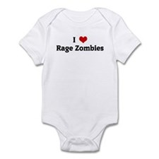 I Love Rage Zombies Infant Bodysuit