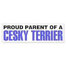 Proud Parent of a Cesky Terrier Bumper Sticker