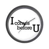 I comes before Wall Clock