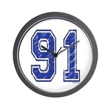 91 Jersey Year Wall Clock
