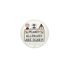 Halloween Peanut Allergy Mini Button (10 pack)