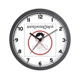No Laughing w/text, Cambodia Wall Clock