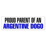 Proud Parent of an Argentine Dogo Car Sticker