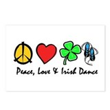 Peace Love Irish Dance Postcards (Package of 8)