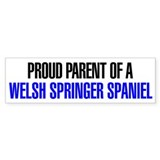 Proud Parent of a Welsh Springer Spaniel Car Sticker