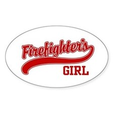 Firefighter's Girl Oval Decal