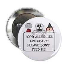 Halloween Food Allergies Button