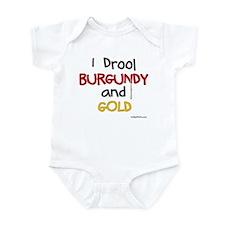 BURGUNDY and GOLD Infant Bodysuit