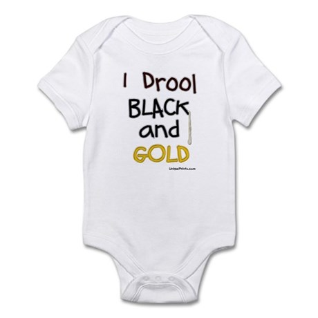 Black and Gold Infant Bodysuit