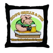 Hogs Grille & Pub Throw Pillow