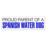 Proud Parent of a Spanish Water Dog Car Sticker