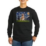 Starry Night / Golden Long Sleeve Dark T-Shirt