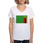 Zambia Women's V-Neck T-Shirt