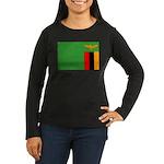 Zambia Women's Long Sleeve Dark T-Shirt