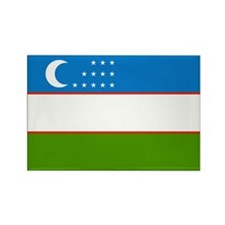 Uzbekistan Rectangle Magnet (100 pack)