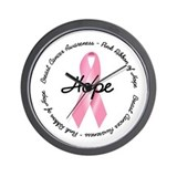 Breast Cancer Ribbon Wall Clock