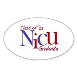 NICU Graduate 05 Boys Oval Decal
