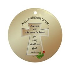 In Loving Memory of Dad Ornament (Round)