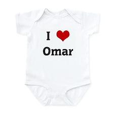 I Love Omar Infant Bodysuit