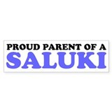 Proud Parent of a Saluki Bumper Sticker
