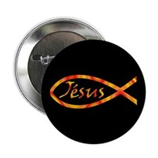 Jésus Fish Button