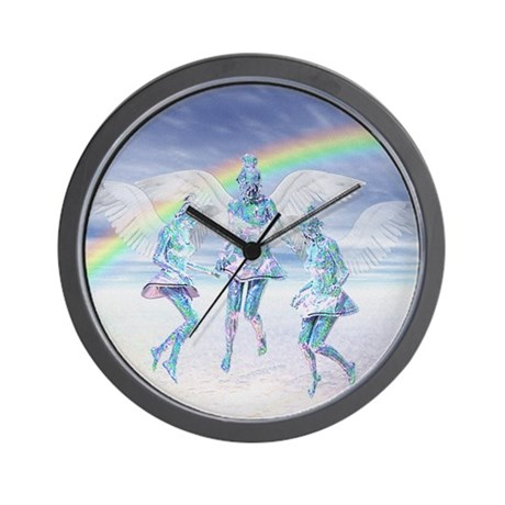 Angels and Rainbows Wall Clock