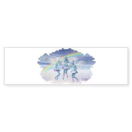 Angels and Rainbows Bumper Sticker