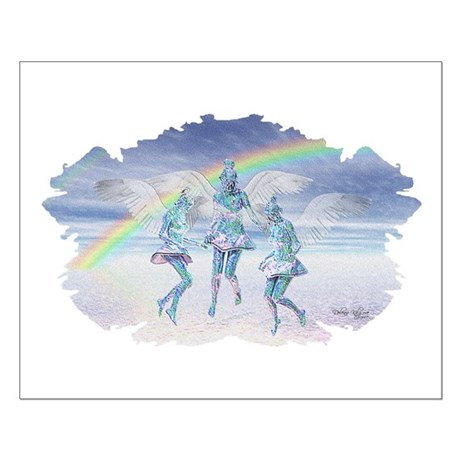Angels and Rainbows Small Poster