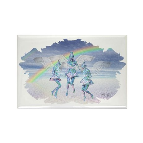 Angels and Rainbows Rectangle Magnet (100 pack)