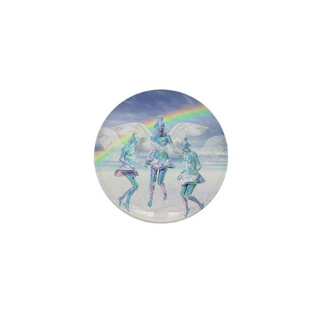Angels and Rainbows Mini Button