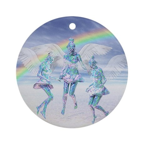 Angels and Rainbows Ornament (Round)