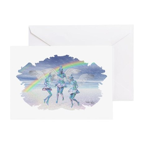 Angels and Rainbows Greeting Card
