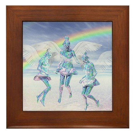 Angels and Rainbows Framed Tile