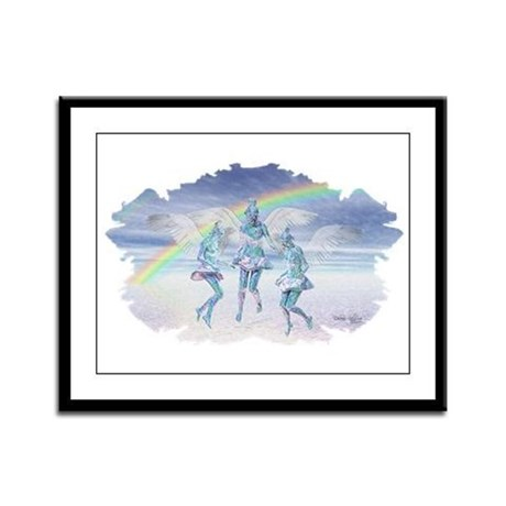 Angels and Rainbows Framed Panel Print