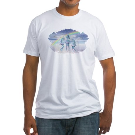 Angels and Rainbows Fitted T-Shirt