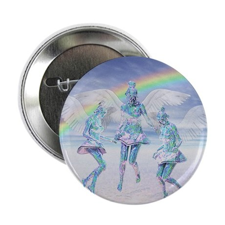 Angels and Rainbows Button