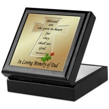 In Loving Memory of Dad Keepsake Box