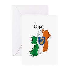 Ireland flag map Greeting Card