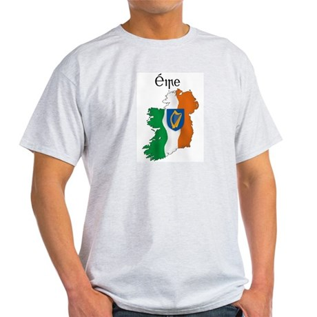 Ireland flag map Light T-Shirt