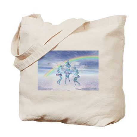 Angels and Rainbows Tote Bag