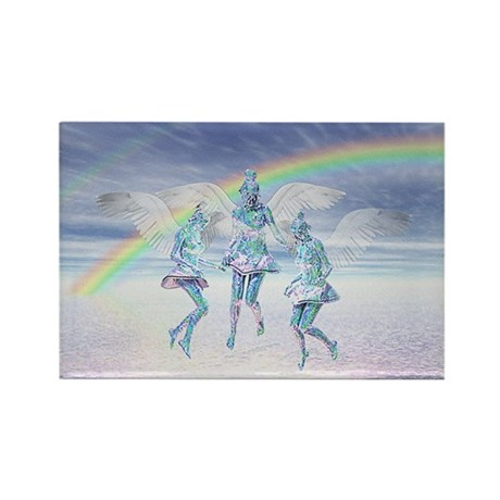 Angels and Rainbows Rectangle Magnet (10 pack)